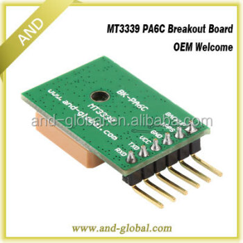 PA6C breakout board,MTK3339 CORD BOARD,high-sensitive patch on top ceramic antenna,1Hz 9600bps