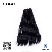 Good Quality Synthetic Hair Extension Long Length Brazilian Synthetic Natural Wavy Hair Weaving