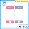 Factory price for iphone 4 pink front glass and back glass