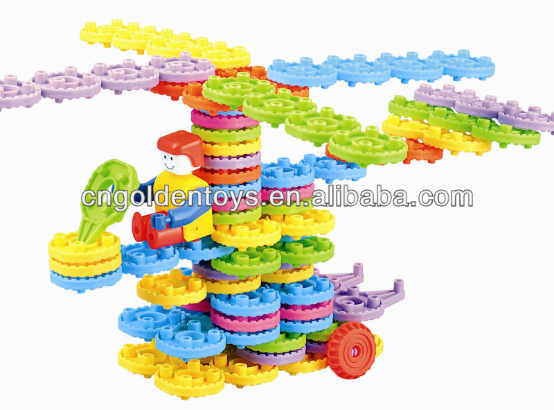 plastic enlighten brick toys little enginner 85pcs