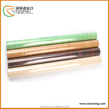 Removable self adhesive wood grain vinyl decorative film for cabinet, furniture and walls