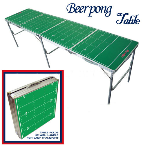 Green Portable Folding Beer Pong <strong>Table</strong> Official Beer Pong Outdoor Aluminun Folding Beer Pong <strong>Table</strong>