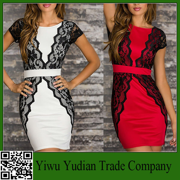 New Sexy Short Tight Lace Dress Mini Luxury Club Satin Women Clothing lace Party Evening dresses