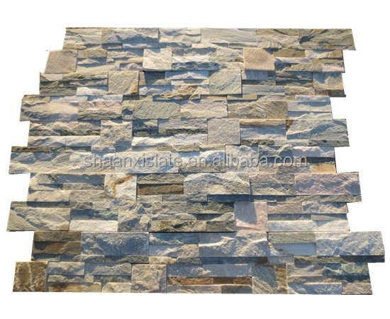 natural slate cultural stone for wall decoration kitchen bathroom and corner