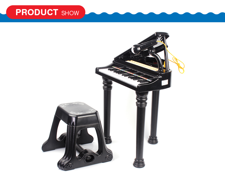 Electronic seated symphonic grand 31 keys plastic toy piano with microphone