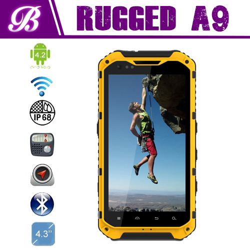 4.3inch MTK6589 Quad core 1.5G NFC 3G landrover a9 rugged waterproof mobile phone