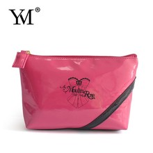 Shinny leather makeup pouch design for promotional order