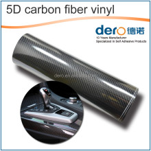 Dero Cheap Price 5D Carbon Fiber vinyl Car Interior decoration