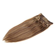 Indidan Remy Full Head Clip in Human Hair Extension #4/27