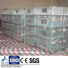 Folding Steel Wire Mesh Pallet Cage for Warehouse Storage