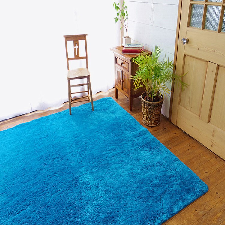 Polyester custom rubber backed washable shag rugs for entrance door