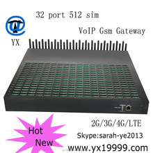 mobile goip gateway with 32-512 sim gsm sim box voip gateway /free registration