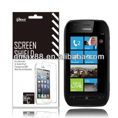 For Nokia lumia 710 gold screen protector oem/odm(High Clear)