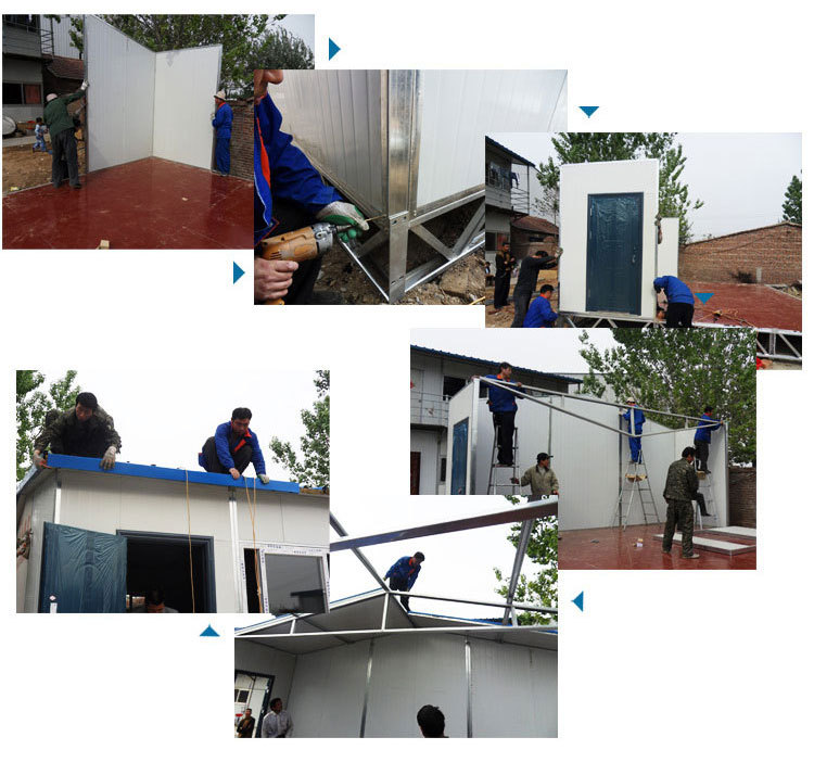 china safety fabricated prefab house for dormitory