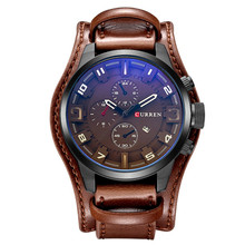 CURREN Top Brand Luxury Men Watches Casual Quartz Leather Military Waterproof Clocks Sport Wristwatch 8225