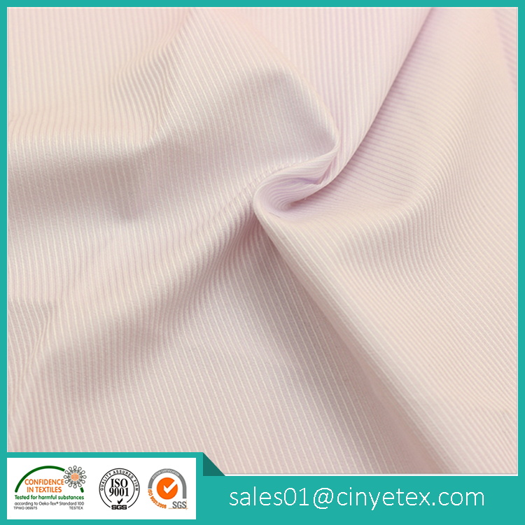 Stripe poly polyester cotton t shirt fabric