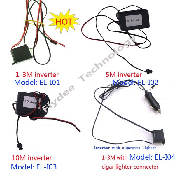Good quality Professional  el decorative light wire controller & driver 12V 6V USB inverter decorate electroluminescence product