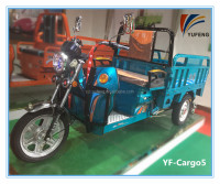 48V 60V Battery Operated Heavy Loading Three Tires Cargo Loading Motorcycle Tricycle