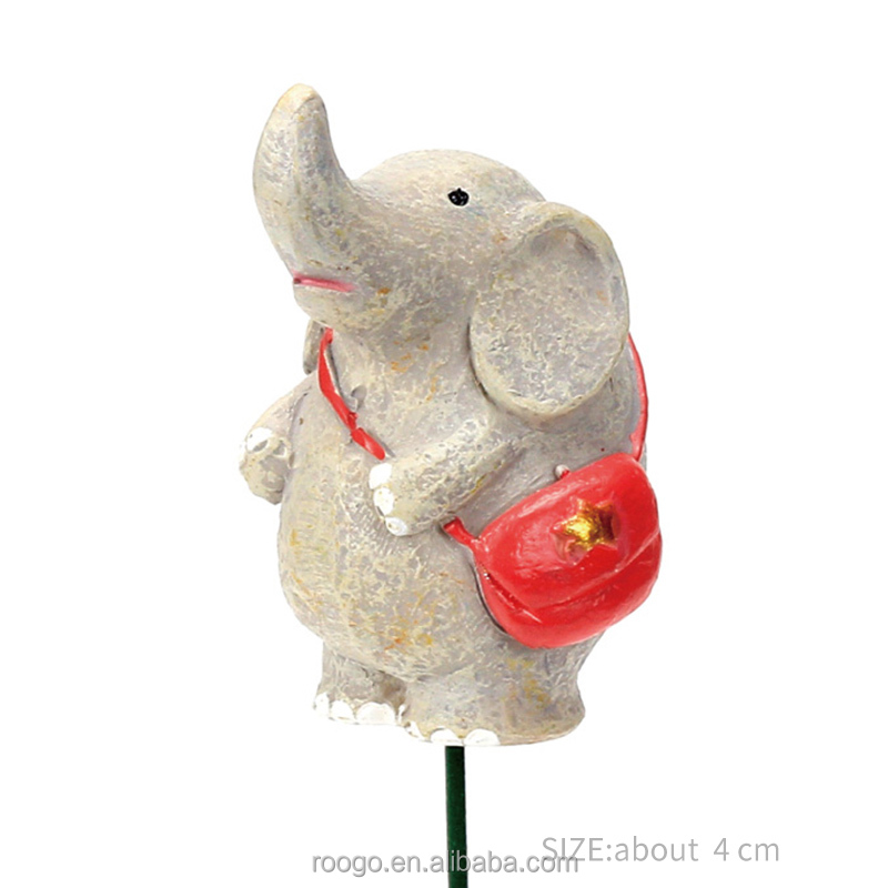 Roogo miniature baby elephant succulent plant pot statue for sale