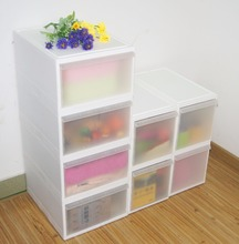 Modern Designed High Quality Stackable Transparent Plastic Household Storage Drawers Cabinet