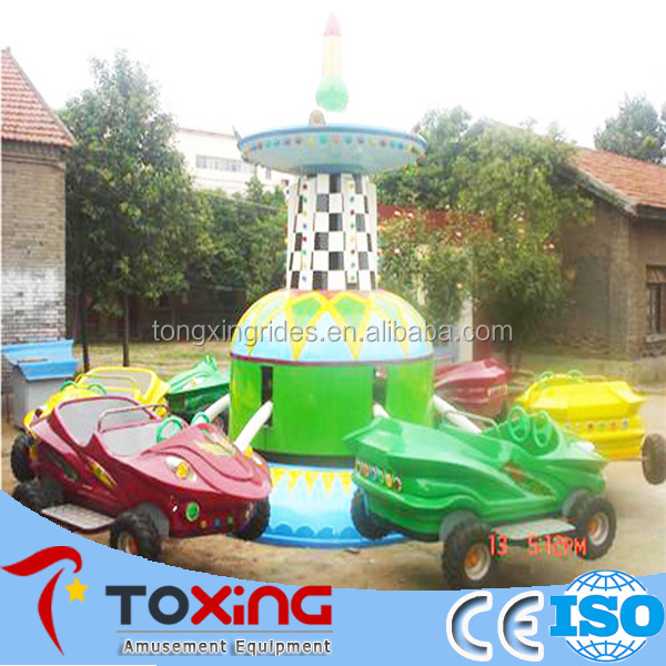 indoor inflatable playground equipment crazy car flying amusement
