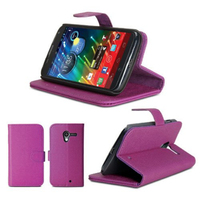 Magnetic Wallet Flip PU Folio Leather Cover Case Stand for Moto X Motorola