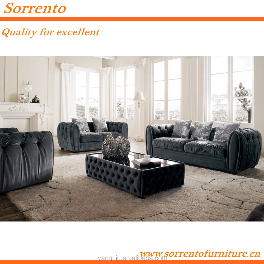 576A-2# Sorrento new classice living room sofa wooden furniture designs