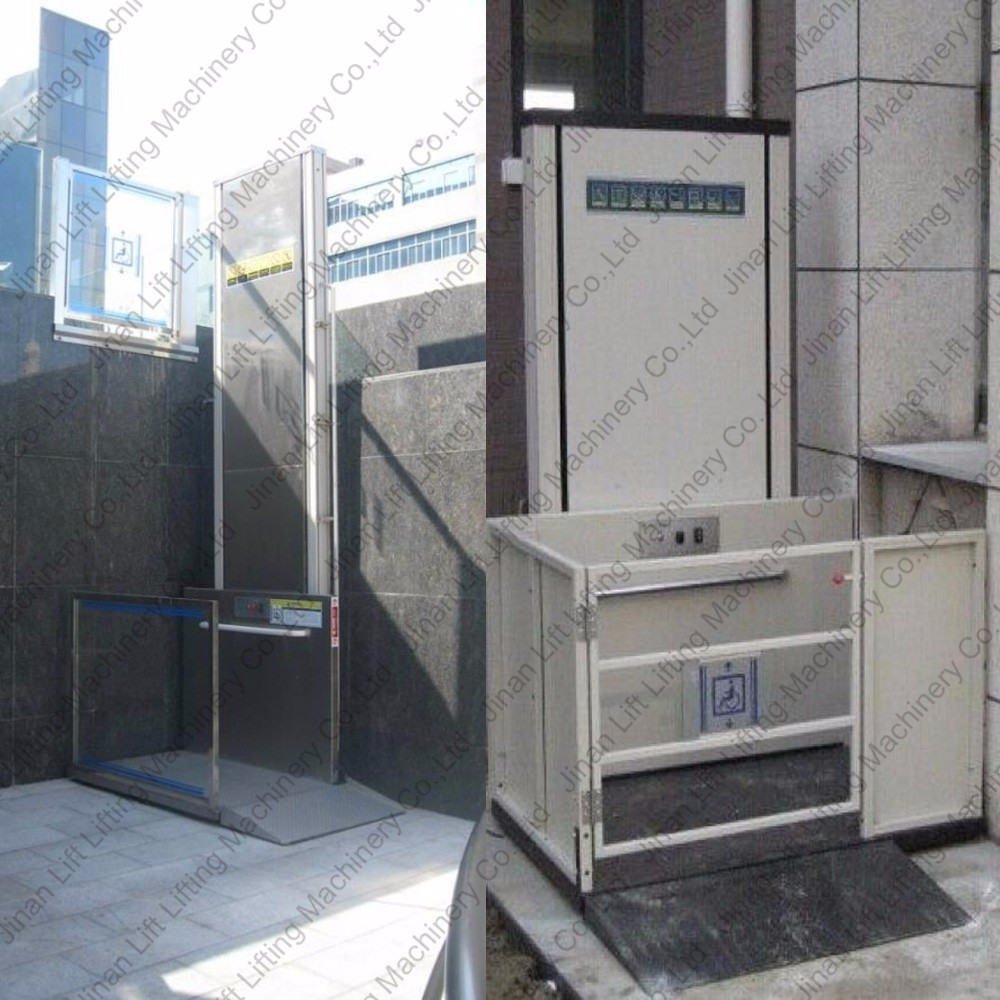 1m 10m small disabled elevator home wheelchair lift price for Small elevator for home price