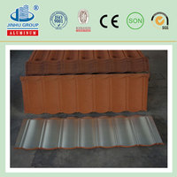 Galvanized Color Coated Steel Sheet/Color stone coated steel flat classic roofing tile