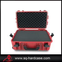 low price pp material box hard plastic instrument carry case with carrying handle