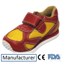 Winter Leather Kids Flat Foot Orthopedic Shoes