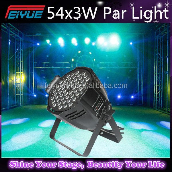 Led RGBW DMX 54*3W Led RGBW Par Light/Stage Light 54x3W LED PAR CAN Dmx DJ Lighting 3W x 54 LED Uplights RGBW Colors Wash