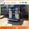 10M electric manlift/telescopic man lift/window cleanling lift