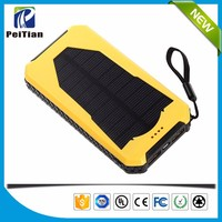 Manufacturer supply camping lamp 10000mAh solar mobile phone power bank