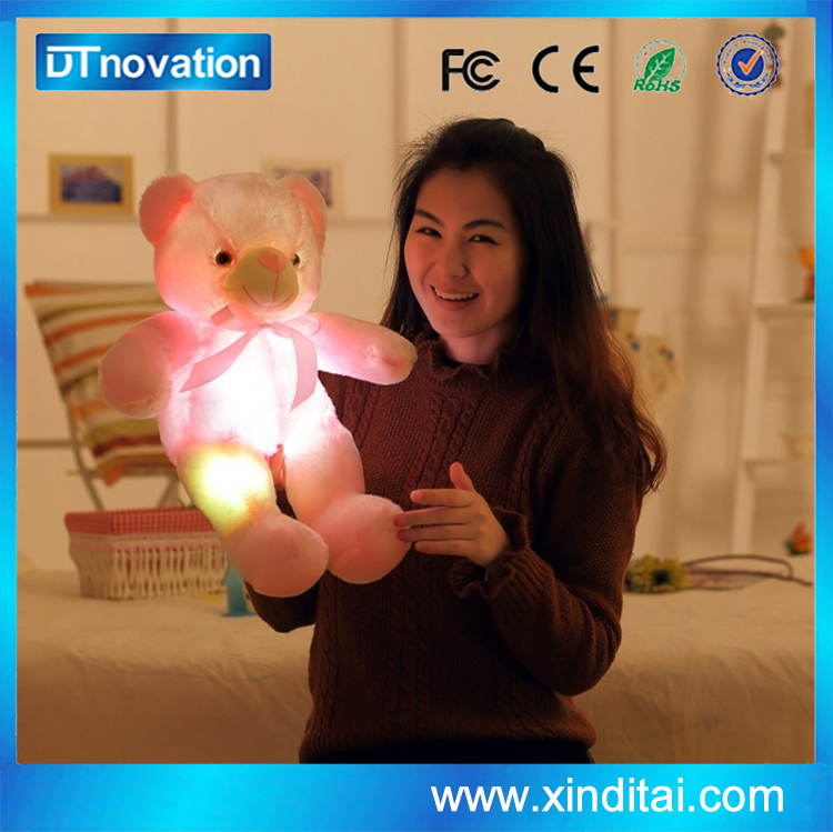 Cute Plush Teddy Bear With Led Night Light 50 cm