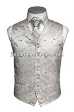 Mens swirl silver waistcoat and vest with logo