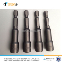 Magnetic hex nut driver with hexagon shank
