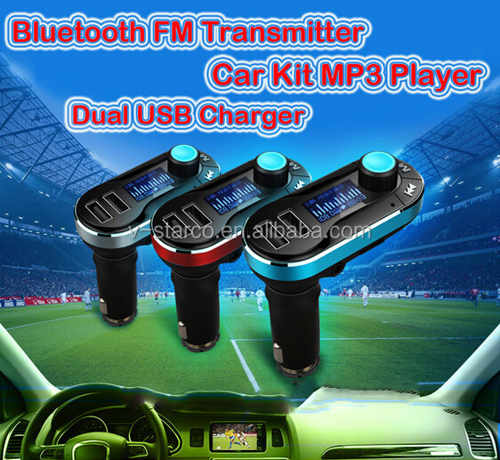 user manual car mp3 player with fm modulator, 1.5 inch blue screen display song name, supports two remote control