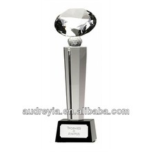Nice design diamond shape crystal award trophy
