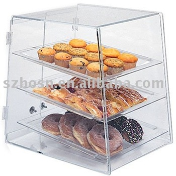 Acrylic Breadbox, Perspex Food Display, Lucite Display Case