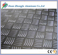 Aluminum chequer plate 5052 H32 5 ribs aluminum for trailer