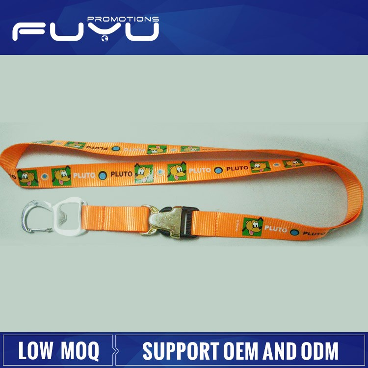 Wholesale fashion high quality neck promotion custom lanyard bottle opener