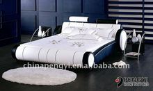 leather bed home bed bedroom furniture py-716