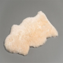 100% real shaggy fur sheepskin rug colorful