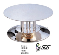 Round Wedding Cake Stand / Stainless Steel Cake Stand For Wedding Party Or Banquet
