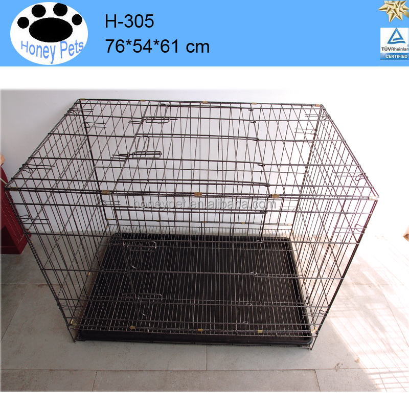 Wholesale luxury indoor metal wire folding large pet cat cage