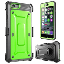 Supcase Unicorn Beetle shockproof phone case for iphone 6s with belt clips and screen protector
