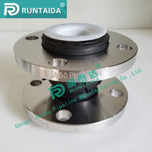 Supply KXT single sphere telescopic teflon ptfe rubber expansion joint