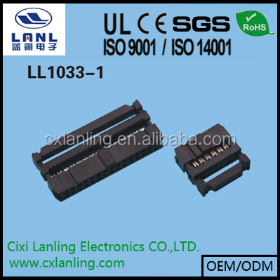 2.54mm IDC connector 6 8 10 12 14 16 18 20 22 24 26 30 34 40 44 50 60 68 pin CE ROHS LL1033-1