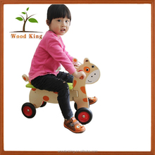 Factory Direct Sale Little Deer Bike Wooden Cartoon Fawn Twist Children Small Custom Best Wholesale Toy Cars For Kids To Drive